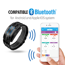 SKMEI Bluetooth 4.0 Smart Wristband Sports Bracelet Watch 50M Waterproof Pedometer Sleep Monitoring