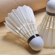 12 Pcs Professional Training Shuttlecock High Rotation Speed Badminton Ball Goose Feather