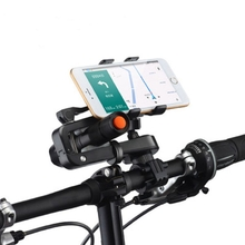360¶ôÇ÷ Rotation 2in1 Bicycle Cellphone Holder Multi Functions Flashlight Holder Phone Clip