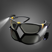 ZANLURE LG-01 LED Glasses Lighting Reading Eyewear Night Riding Glasses Super Bright Goggles
