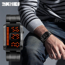 Men's Waterproof Sport LED Electronic Watch Steel Strip Casual Fashion Watch