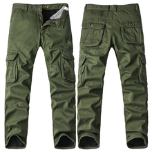 FIND™ Big Size Thick Fleece Cargo Pants Winter Mens Casual Cotton  Trousers Pants