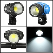 Bicycle Light COB LED Headlight Front Night Riding Cycling Head Light Lamp