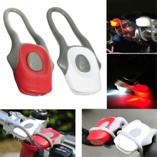 2PCS Mountain Bike Bicycle Front and Rear Light LED Clip Silicone Set Cycling MTB Light