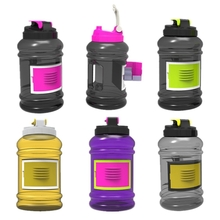 2.2L Big Large BPA Free Sport Gym Training Drink Water Bottle With Storage Case