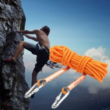 10M 12KN Climbing Safety Rope Auxiliary Protection String Rescue With Carabiner