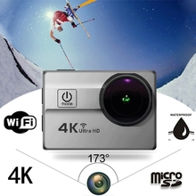 25mm 173¶ôÇ÷ Ultra-wide Lens Mini 4K Sports Camera WiFi Ultra HD 30M Waterproof Action Camera 2.0inch LCD Screen Sports DV Video Camcorder 25fps 64GB