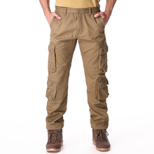FIND™ ChArmkpR Mens Winter Polar Fleece Lined Cargo Pants Multi Pocket Loose Thick Warm Trousers
