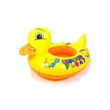 Children Swim Learning Ring Duck Style Inflatable Swim Ring Seat Float Boat