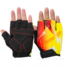 GREEN TEAM Cycling Bike Half Finger Gloves Outdoor Bicycle Racing Shockproof Gloves Size M XL