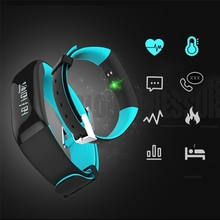 Sports P1 Smart Bluetooth Bracelet Wristband Heart Rate Blood Monitor Waterproof IP67 Watch