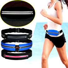 AONIJIE Running Marathon Waist Bag Pack Sports Fitness Double Pocket Pouch Key Phone Holder