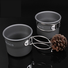 ALOCS 150ml Outdoor Cup Portable Camping Picnic Aluminum Mug With Foldable Handle