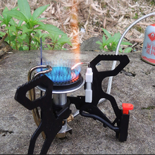 Alocs Camping Picnic Mini Stove BBQ Windproof Portable Burner Furnace With Spark Rod