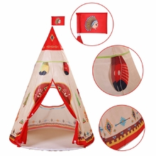 160 x 105cm Children Indian Toy Teepee Safety Tent Portable Playhouse Kids Indoor Game Room Outdoor Tourist