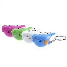 Outdoor Mini Smart Anti-lost Alarm Bird Keychain Whistle With LED light