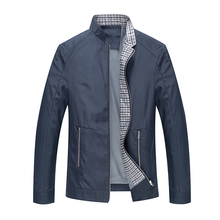 FIND™ Casual Business Stand Collar Zipper Spring Fall Pure Color Men Brief Jacket Coat