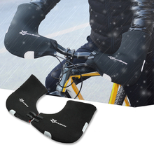 ROCKBROS Rainproof Winter Cycling Gloves Waterproof Fabric Warm Keeping Reflective Durable Cycling Hand Guards Warmer Handlebar Gloves