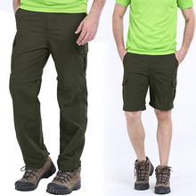 FIND™ Large Size S-5XL Outdoor Quick Drying Pants Summer Mens Detachable Sun-proof Hiking Pants