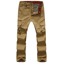 FIND™ Men Fall Casual Multi Pocket Cargo Pants Straight Leg Loose Pants