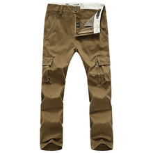 FIND™ Large Size Outdoor Multi-pocket Overalls Trousers Men's Casual Cotton Wear-resisting Cargo Pantsa
