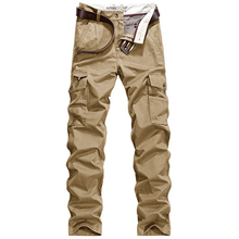 FIND™ Fall Middle - aged Men's Multi Pocket Casual Business Pants Fashion Cotton Loose Trousers