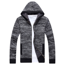 FIND™ Fall Men White Wool Hooded Cardigan High Quality Sweater Fashion Casual Knit Jacket