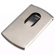 Stainless Steel Name Business Credit Card Holder Case
