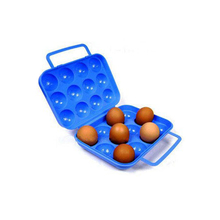 12 Grids Portable Plastic Egg Case For Camping Pinic