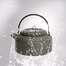 Alocs 1.4L Outdoor Water Kettle Pot Camping Picnic Cooking Teapot Aluminum Alloy