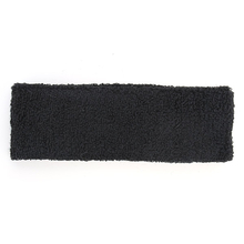 High Quality Sport Cotton Headband Sweatband Black