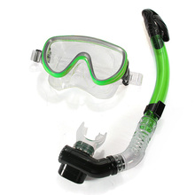 PVC Diving Swimming Goggles Mask Glasses Dry Snorkel Set