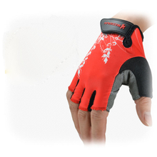 Boodun Bike Gloves Cycling Half Finger Gloves Red