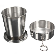 240ml 4oz Stainless Steel Portable Folding Telescopic Travel Cup