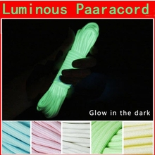 10ft 3m Luminous Glow Nylon Paracord Parachute Cord Rope Multifunction For Outdoors