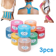 3pcs Green Kinesiology Tape Sports Muscles Care Therapeutic Bandage