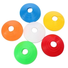 10 PCS Football Training Speed Disc Cone Cross Roadblocks