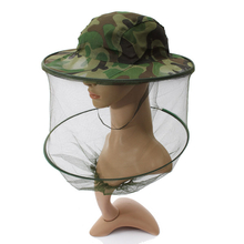 Camouflage Mosquito Hat Mesh Women Men Midge Insect Bucket Fishing Cap