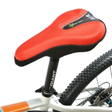 Bicycle Saddle Cover Bike Seat Cushion 3D Gel Pad Reflective Tail