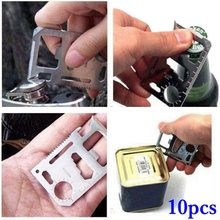 10pcs Universal Multifunctional Knife Card Life Survival Outdoor Tool