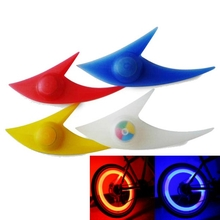 A Pair of Bicycle Wheel Light Shark Shape Spokes LED Bike Multicolor