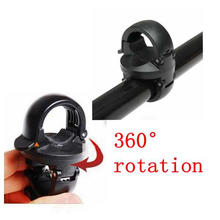 360¶ôÇ÷Rotation Torch Clip Mount Bicycle Front Bracket Flashlight Holder