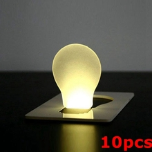 10pcs Portable LED Card Light Pocket Lamp Purse Wallet Emergency Light