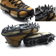 18 Teeth Antislip Ice Snow Shoe Spikes Mountaineering Hiking Crampons