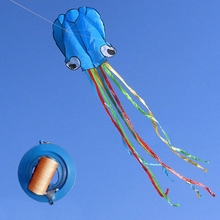 4m Octopus Soft Flying Kite with 200m Line Kite Reel 6 Colors