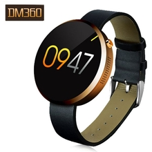 DM360 Round Metal Dial Displays Bluetooth 4.0 Sport Smart Watch For IOS And Android System