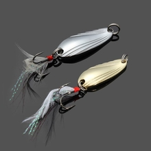 Paillette Metal Fishing Lure Sequins Fishing Lure Bait with Hooks