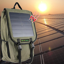 Outdoor Camping Solar Backpack Rucksack Travel Charger Pack With 10W Solar Panel