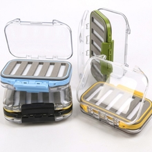 Waterproof Double-side Fly Fishing Lure Box Tackle Case Hook Bait Box 3Colors