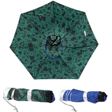 Foldable Fishing Umbrella Hiking Golf Camping Sun Headwear Cap Head Hats Outdoor